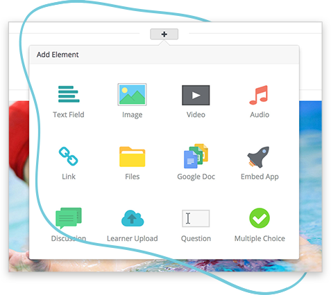 The Wyzed course authoring tools allow you to easily create video, images, text, quizzes, forums and much more.